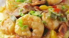 """Old Charleston Style Shrimp and Grits 