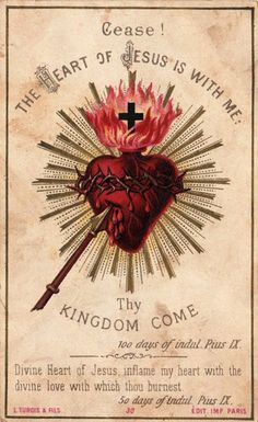 sacred heart.- Quiero, deseo, amo y busco como reparar un poco tu corazon ardiente de amor.