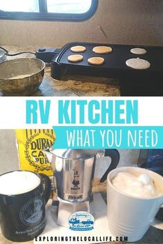 Downsizing from a home to an RV can be a daunting task. Find out what RV kitchen gear you can actually fit in that tiny RV space!! Small Rv, Rv Homes, Rv Organization, Large Plates, 5th Wheels, Rv Campers, Rv Life, Rv Living, The Locals
