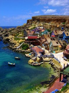 The Popeye Village, also known as Sweethaven Village, is one of Malta's major tourist attractions!