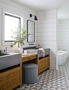 Modern farmhouse bathroom remodel ideas (10)