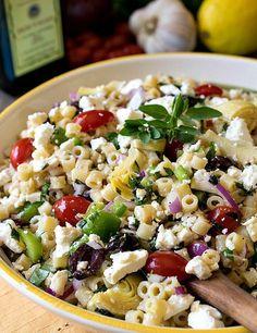Fresh Zesty Mediterranean Greek Pasta Salad
