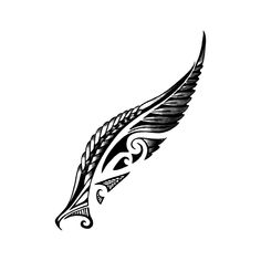 Tribal Feather- See this and of other tattoo designs. Then test-drive your custom tattoo before committing forever with Momentary Ink featuring Real Teal™. Tribal Feather Tattoos, Feather Tattoo Design, Maori Tattoo Designs, Temporary Tattoo Designs, Irezumi Tattoos, Marquesan Tattoos, Body Art Tattoos, Hand Tattoos, Small Tattoos