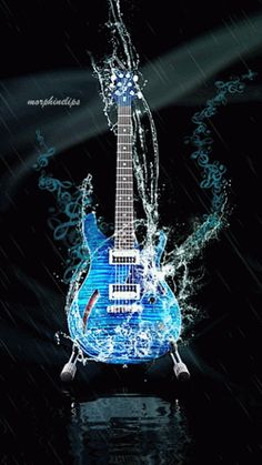 Play The Guitar Like A Pro With These Tips And Tricks. Are you a music lover who cannot play an instrument? Learning to play music is possible at any age. The guitar is the easiest instrument Guitar Art, Music Guitar, Pink Guitar, 80s Music, Gifs, Musik Wallpaper, Musica Love, Music Artwork, Gif Animé