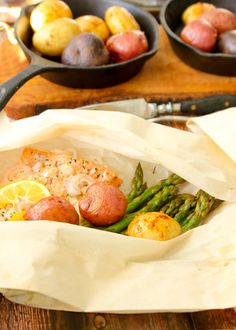 """Wild Salmon """"Hobos"""" in Parchment (or foil)"""