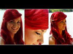 ▶ The Little Mermaid Hair Tutorial - Ariel Mermaid Hairstyle With Big Swoop Bang - YouTube