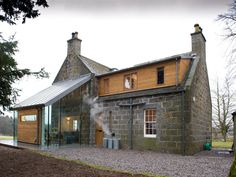 extension at prospect house in Cluny Estate, Sauchen, Aberdeenshire, Scotland by JAMstudio