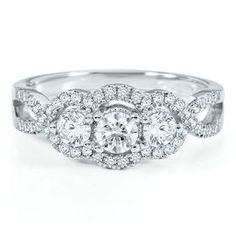 Smart Value® 3/4ct TW Three-Diamond Anniversary Ring - Anniversary Rings - Rings - Jewelry - Helzberg Diamonds (1 of my 3 favorite rings in our store!)