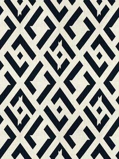 Diane von Furstenberg for Kravet Fabric | China Club-Nero