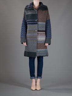 Etro Patch Knit Oversized Cardigan