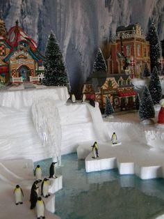 Dept 56 Lemax Display Platform Chilly North Pole Elfland Snow Village