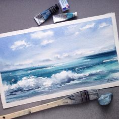 """1,446 Likes, 49 Comments - WATERCOLOR • INSPIRATION (@yulyacherkasova) on Instagram: """" Бумага: Saunders Waterford, 33*18"""""""