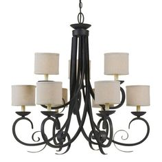 I pinned this Jessica 9 Light Chandelier from the AF Lighting Summer Sale event at Joss and Main!