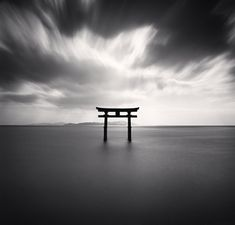 Torii, Study 2, Takaishima, Biwa Lake, Honshu, Japan, 2007 by Michael Kenna