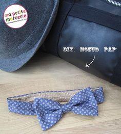 DIY Nœud pap Bientôt la fête des pères ! Voici une idée de créations pour un papa chic, un joli nœud pap' à décliner à l'infini. Pour réaliser ce nœud, il vous faut : 10 cm/laize de tissu mini pois ficelle 10cm/laize de tissu mini goutte 2 pressions à coudre du fil 1. Découpez 1 coupon de 8cm/28 cm dans le tissu goutte, de même dans le tissu mini pois qui fera la doublure, découpez un rectangle de 4cm/7,5 cm … {La suite...}