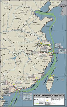 First Opium War 1839-42 Conflict Overview EN.svg