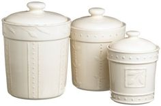 Signature Housewares Sorrento Collection Canisters, Ivory Antiqued Finish, Set of 3 by Signature Housewares, http://www.amazon.com/dp/B000NU2VCM/ref=cm_sw_r_pi_dp_VQnprb141C1ES