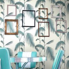 Cole and Son Palm Leaves Wallpaper - New Contemporary Palm Leaf Wallpaper, Wallpaper Roll, Pattern Wallpaper, White Wallpaper, Decoracion Vintage Chic, Home Decoracion, Shabby Chic Tapete, Motif Tropical, Cole And Son Wallpaper