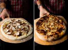 These Neapolitan-style pizzas are reminiscent of artisan wood-fired pies, but can be made in your home oven with a simple baking steel. This pizza is light but not flat; and substantial but far from bready, with a light and pillowy crust that's equal parts chewy gluten and air. In short, it's pizza perfection.