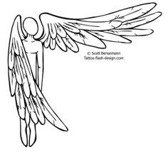 Simple Barbed Wire Drawing top simple angel tattoo drawings images for pinterest tattoos