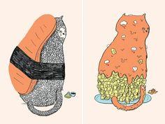 #oharahale cat food portraits