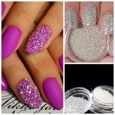 Nail Art Decoration Glitter Crystal Glass Caviar Beads Tiny 3D Micro Pixie Mermaid Nails Art Hot Nail Decorations M03373