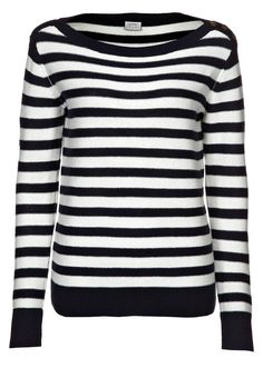 Esprit - marine. Casual (reverse side knit). Love boat neck (hard to wear shirts under). would likely wear to death.