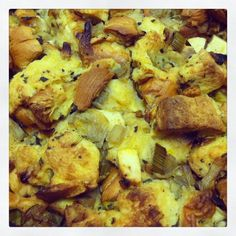 Challah Stuffing with Chestnuts, Apple, and Sage | The Inspired Chef # ...