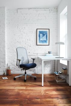 The Lino Chair, designed by Sam Hecht and Kim Colin, is a comfortable home-office chair and inspiration for workspace decor ideas.
