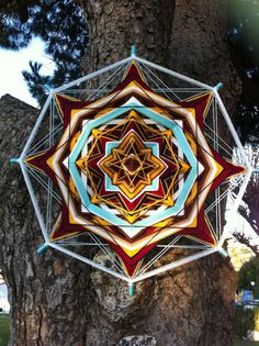 """Please visit my another store with mandalas """"Home Decor by RusaLena"""" https://www.etsy.com/shop/HomeDecorRusalena  To order Art Mandala  David's Star yarn от HomeDecorRusalena, $100.00"""