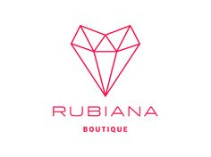 Rubiana Boutique - Graphic Design - Diseño Gráfico - Hipster Branding Logo - Logo Design Minimal Clean Thin