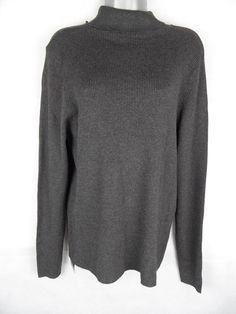 2770c77f52 M amp S Staynew Ribbed Polo Neck Size 20 Charcoal Grey Long Sleeved Plus  Size