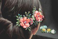 Pinza de pelo de boda Floral pinza de pelo pinza por PiuraandManila