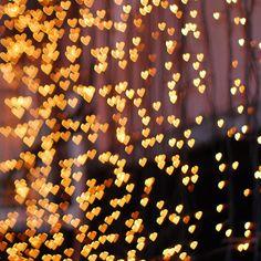 pluie de coeurs scintillants, so romantic