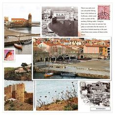 Collioure Harbour using Perfect Panorama templates from Lynn Grieveson Designs at The Lilypad