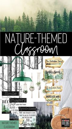 Nature Themed Classroom Decor: A Calming and Plant Filled Classroom - Building Book Love Elementary Classroom Themes, Classroom Decor Themes, 3rd Grade Classroom, Middle School Classroom, School Teacher, Classroom Ideas, Camp Theme Classroom, School Themes, Classroom Design