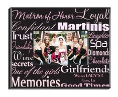 Personalized Matron of Honor Picture Frame – Personalized Gifts