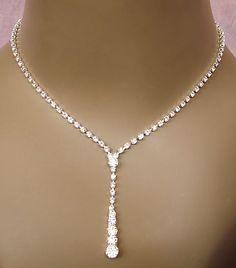 Sexy Drop Rhinestone Jewelry Set