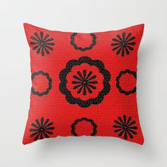 red Throw Pillow by Sladja - $20.00