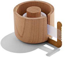 Brass and Maple Tape Dispenser | Perch