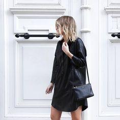 Black leather ✔️ #damoy #backinstock #leather #minimalism #minimal #love