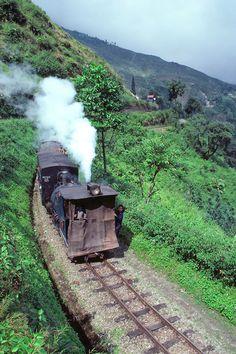 The Darjeeling-Himalayan Railway runs 51 miles from Siliguri to Darjeeling in northern India.