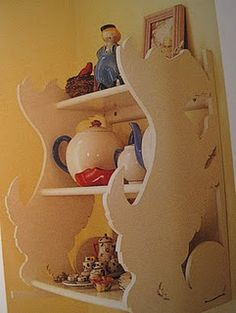 """Scottie shelf......want to make. From Mary Engelbreit's """"The Home Companion"""" magazine."""