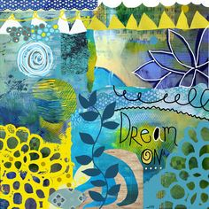 Dream On Large Funky and Whimsical Print by Beth Nadle rArt