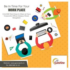 Be In Time For Your WORK PLACE GR Sunshine is ongoing Project In Sarjapur Road, Which is close Approximate to WIPRO Corporate Office.