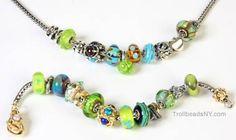Necklace or bracelet troll beads