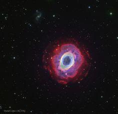 En la constelación de lira se encuentra el objeto M57, también conocido como la nebulosa del anillo. Fotografía realizada por Daniel López.  http://www.elcielodecanarias.com