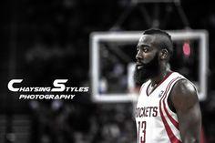 Fear the Beard! James Harden of the Houston Rockets.    #HoustonRockets #NBA #JamesHarden #ToyotaCenter #basketball  https://www.facebook.com/ChaysingStylesPhotography