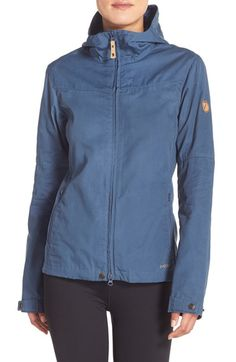 Fjällräven 'Stina' Hooded Water Resistant Jacket available at #Nordstrom