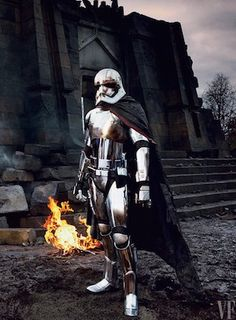 First Look At Gwendoline Christie As The Force Awakens' Chrometrooper